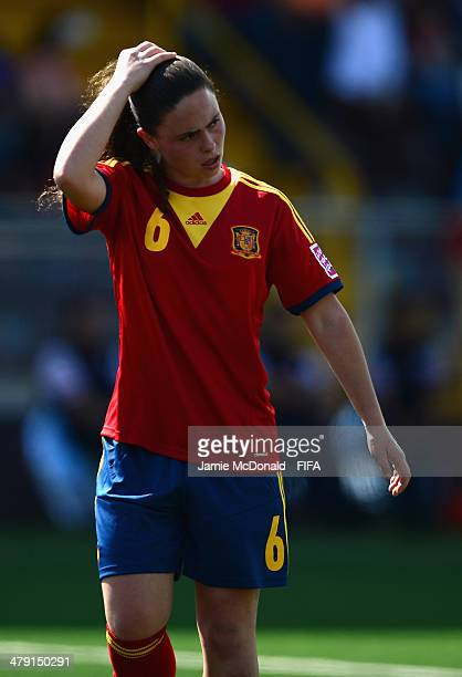 Pilar Garrote of Spain looks on during the FIFA U17 Women's World Cup Group C match between Spain and Japan at Ricardo Saprissa Ayma on March 16 2014...