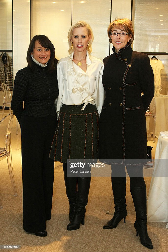 Pilar Hubbard, Angela Dotson and Jennifer Hansen attend the Jamee Gregory Book Signing Event at Chanel Boutique Dallas on December 2, 2010 in Dallas, Texas.