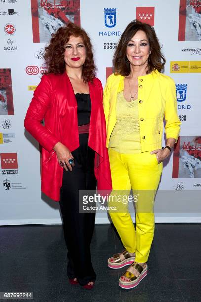 Pilar Jurado and Ana Rosa Quintana attend the 'Madwomenfest' presentation at the Palacio de los Deportes WiZink Center on May 24 2017 in Madrid Spain