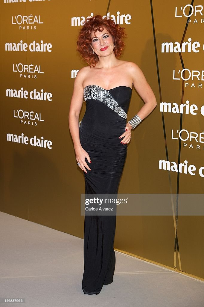 Pilar Jurado attends Marie Claire Prix de la Moda Awards 2012 at the French Embassy on November 22, 2012 in Madrid, Spain.