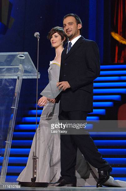 Pilar Lopez de Ayala and Alejandro Amenabar during 2006 Spanish Academy Cinema Goya Awards at Palacio de Congresos in Madrid Spain
