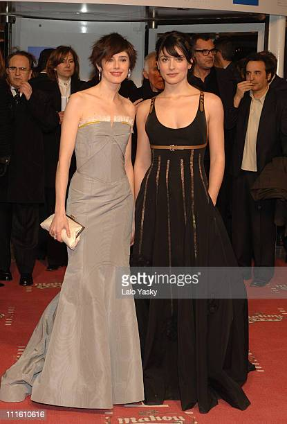 Pilar Lopez de Ayala and Barbara Lennie during 2006 Spanish Academy Cinema Goya Awards at Palacio de Congresos in Madrid Spain