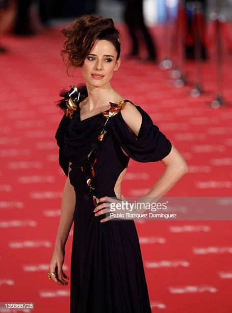 Pilar Lopez de Ayala arrives to Goya Cinema Awards 2012 ceremony at the Palacio Municipal de Congresos on February 19 2012 in Madrid Spain