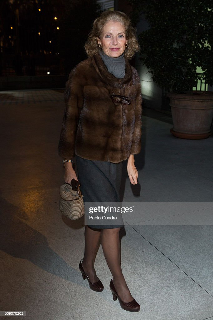 Pilar Medina Sidonia attends the 'Realistas de Madrid' exhibition at Thyssen Museum on February 8, 2016 in Madrid, Spain.