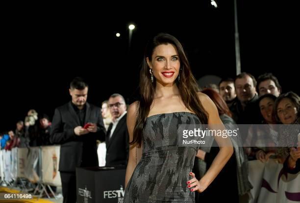 Pilar Rubio attends fesTVal Orange Carpet on March 31 on March 31 2017 in Burgos Spain