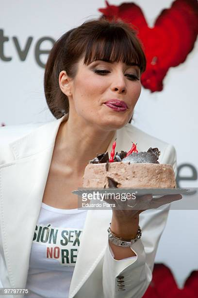 Pilar Rubio attends 'Tension sexual no resuelta' photocall at Princesa cinema on March 17 2010 in Madrid Spain