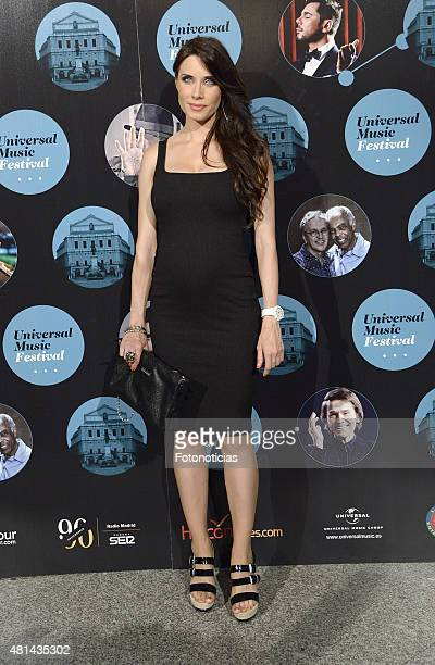 Pilar Rubio attends the Elton John concert at the Royal Theater on July 20 2015 in Madrid Spain