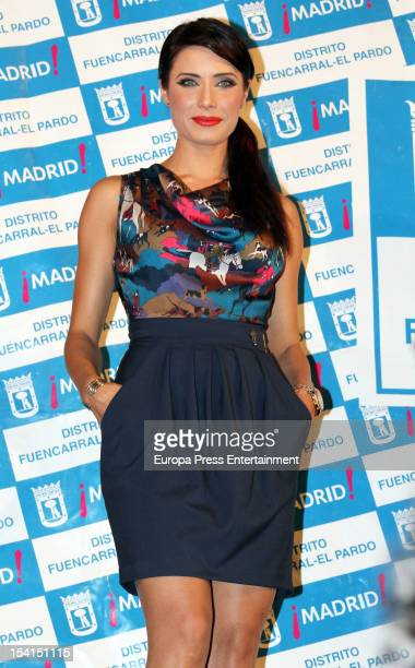 Pilar Rubio attends the opening speech in Pilar neighborhood on October 11 2012 in Madrid Spain