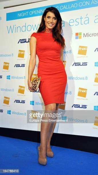 Pilar Rubio attends the presentation of new Windows 8 at FNAC Callao on October 25 2012 in Madrid Spain