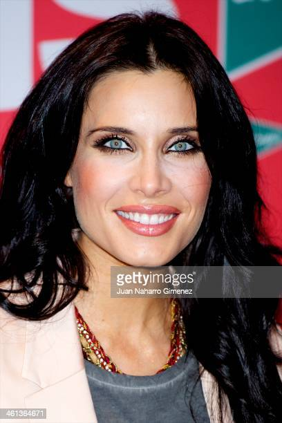 Pilar Rubio attends the presentation of sales at El Corte Ingles on January 8 2014 in Madrid Spain