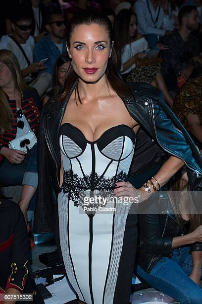 Pilar Rubio is seen attending MercedesBenz Fashion Week Madrid Spring/Summer 2017 at Ifema on September 18 2016 in Madrid Spain