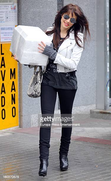 Pilar Rubio is seen buying seafood at the super market on January 16 2013 in Madrid Spain