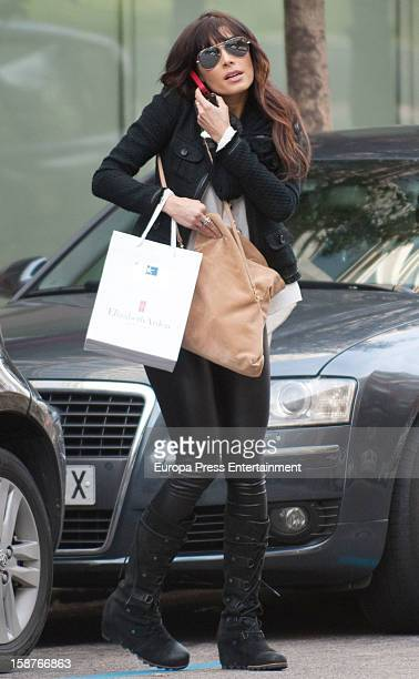 Pilar Rubio is seen on December 27 2012 in Madrid Spain
