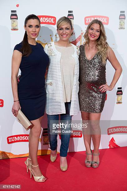 Pilar Rubio Lujan Arguelles and Patricia Montero attend the 'Zumosol' presentation at Callao City Lights Cinema on May 20 2015 in Madrid Spain