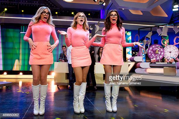 Pilar Rubio Marta Hazas and Anna Simon attend 'El Hormiguero' Tv show at Vertice Studio on December 4 2014 in Madrid Spain