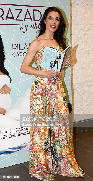 Pilar Rubio presents her book 'Pregnant now what' on May 26 2016 in Madrid Spain