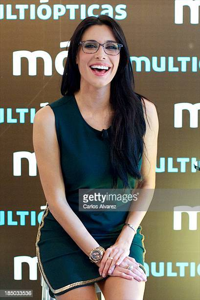 Pilar Rubio presents new Multiopticas collection on October 17 2013 in Madrid Spain