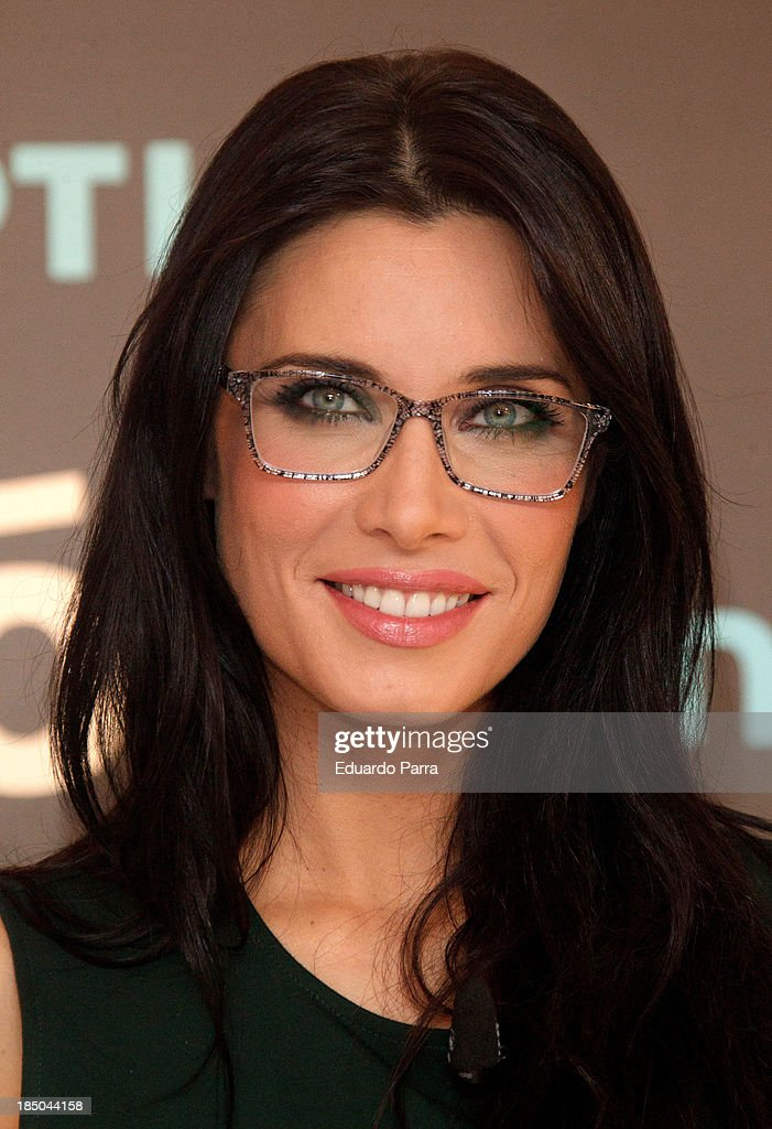 <a gi-track='captionPersonalityLinkClicked' href=/galleries/search?phrase=Pilar+Rubio&family=editorial&specificpeople=4212807 ng-click='$event.stopPropagation()'>Pilar Rubio</a> presents new Multiopticas collection on October 17, 2013 in Madrid, Spain.