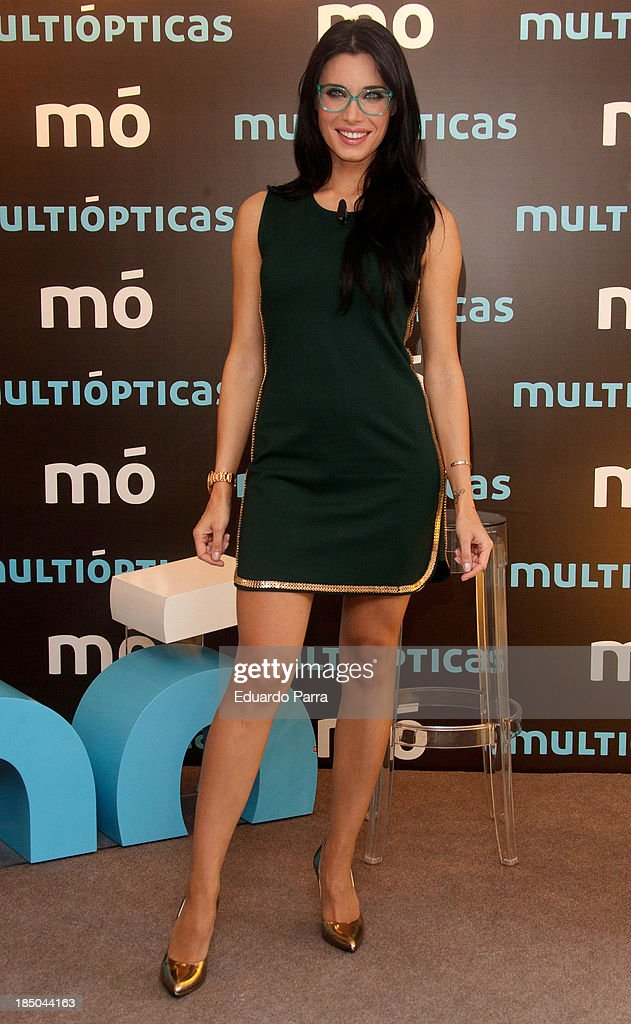 Pilar Rubio presents new Multiopticas collection on October 17, 2013 in Madrid, Spain.