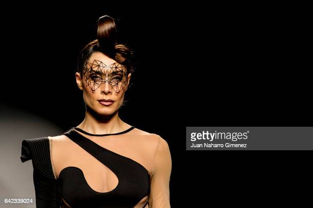 Pilar Rubio walks the runway at the Maya Hansen show during the MercedesBenz Madrid Fashion Week Autumn/Winter 2017 at Ifema on February 17 2017 in...