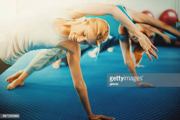 Pilates class.
