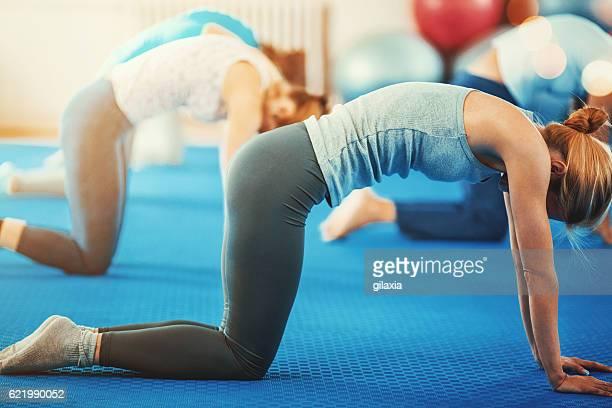 Pilates classe.