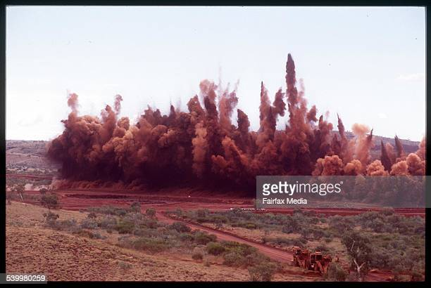 Pilbara Yandi iron ore mine 10 August 1998 AFR Picture by MICHELE MOSSOP