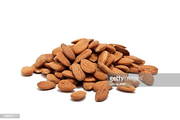 pile of almonds
