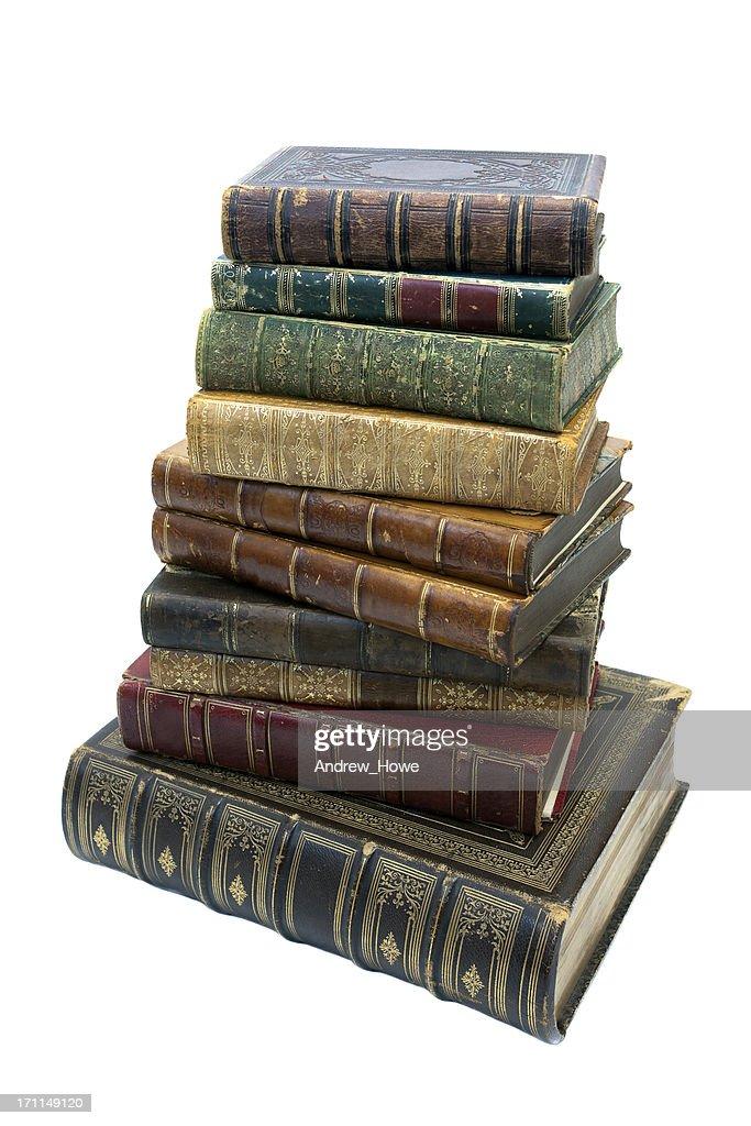 Pile of Antique Books