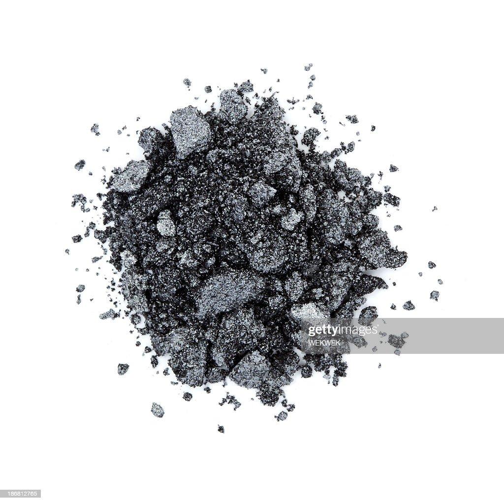 Pile of black color eye shadow