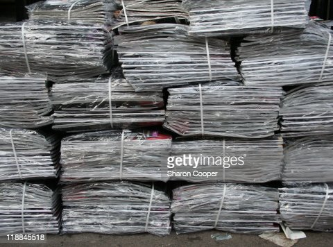 PIle of bound newspapers : Stock Photo