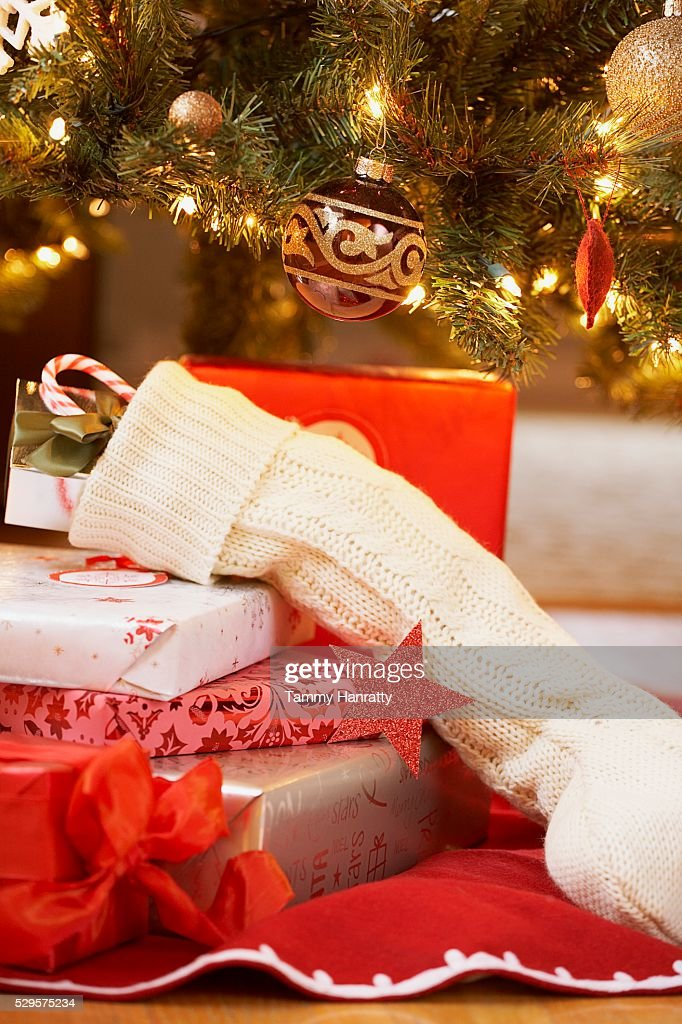 Pile of Christmas Gifts : Foto de stock