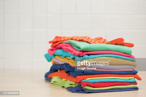 Pile of clean laundry
