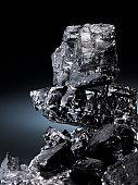 Pile of coal, close-up