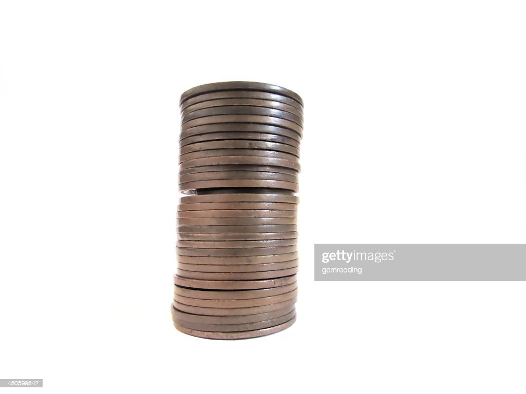 pile of copper coins : Stock Photo