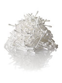 Pile of cotton swabs.