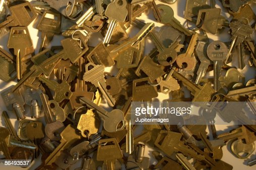 Pile of discarded keys : Stock Photo