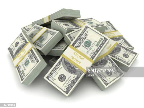 Haufen von Dollar