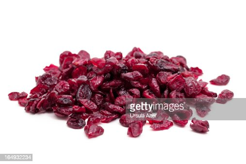 Pile of dried cranbarries
