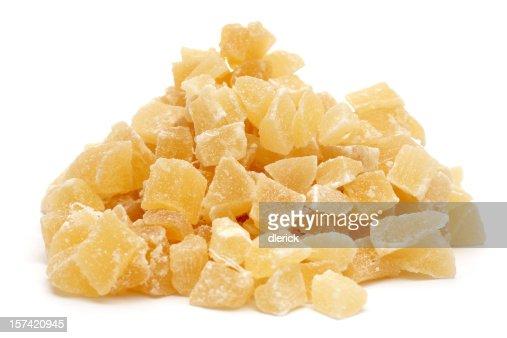 Pila di ananas pezzi secco