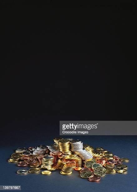A pile of european money