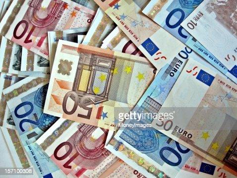 Pile of Euros : Stock Photo