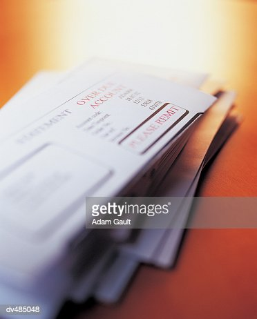 Pile of Financial Mail : Stock Photo