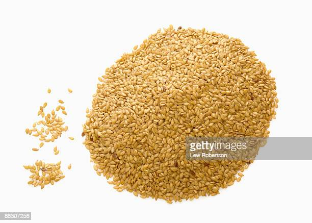 Pile of flax seed