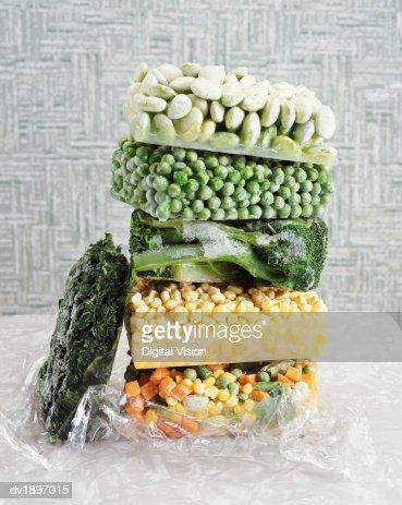 Pile of Frozen Vegetables