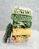 Pile of Frozen Vegetables
