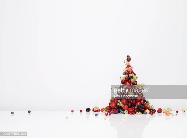Pile of fruit cascading