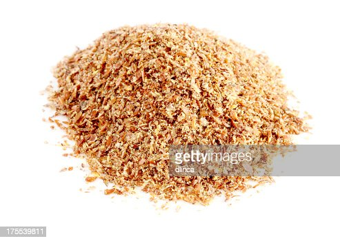 Pile of Ground Flaxseed