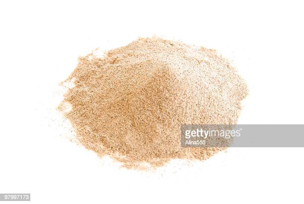Pile of ground white pepper