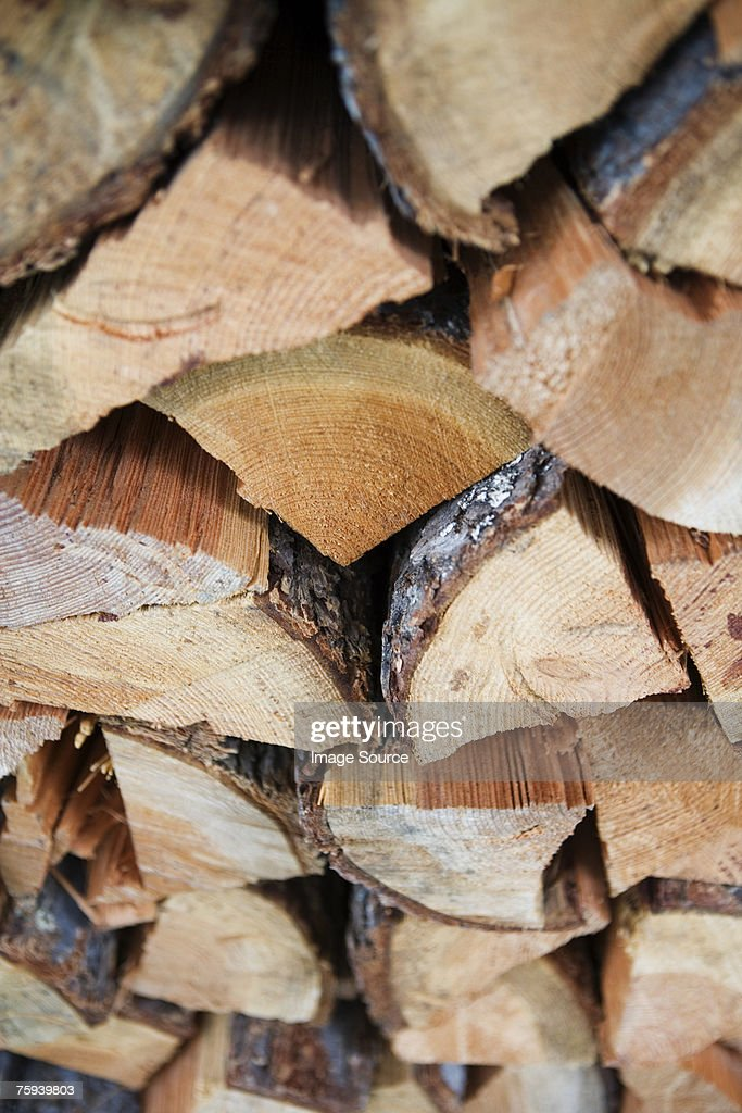 A pile of logs : Stock Photo